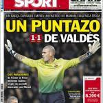 Sport: Un puntazo di Valdes