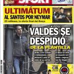 Sport: Valdes ha detto addio