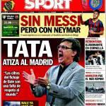 Sport: Tata attacca il Real Madrid