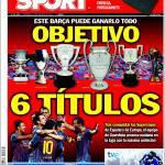 Sport: Barcellona, obiettivo sei titoli