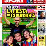 Sport: Così sarà la festa di Guardiola