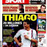 Sport: Thiago, 20 milioni più un giocatore