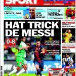 Sport: tripletta di Messi