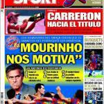 """Sport: """"Mourinho ci motiva"""""""