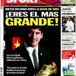 Sport: Messi, sei il più grande!