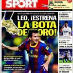 Sport: Leo, estrena la bota de oro!