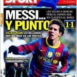 Sport: Messi, un punto