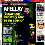 """Sport: Afellay """"Giocare con Iniesta e Xavi è un sogno"""""""