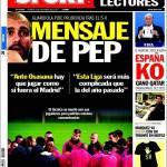Sport: Messaggio di Guardiola