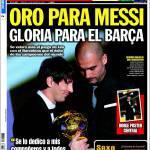 Sport: Oro per Messi, gloria per il Barcellona