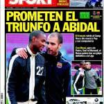 Sport: Promesso il trionfo ad Abidal
