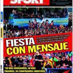 Sport: Festa con messaggio