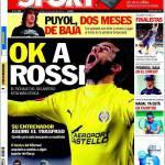 Sport: Ok a Rossi