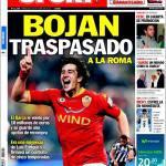 Sport: Bojan ceduto alla Roma
