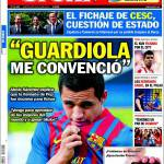 "Sport: ""Guardiola mi ha convinto"""