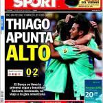 Sport: Thiago punta alto