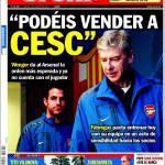 """Sport: """"Si può vendere Fabregas"""""""