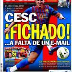 Sport: Fabregas acquistato..manca un'email