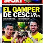 Sport: Il Gamper di Cesc e Alexis