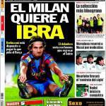"""Sport: """"Il Milan desidera Ibra"""""""