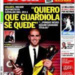 """Sport: """"Voglio che Guardiola resti"""""""