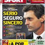 Sport, Tito Vilanova: serio, sicuro, sincero