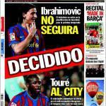 Sport: Ibra se ne andrà, Tourè al City