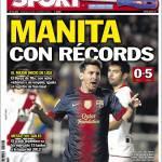 Sport: Manita con record