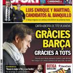 Sport, Vilanova: Grazie Barca, grazie a tutti!
