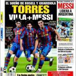 Sport: Torres+Villa+Messi, il sogno di Rosell e Guardiola