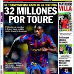 Sport: 32 milioni per Tourè