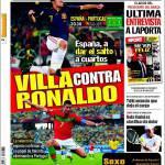 Sport: Villa contro Ronaldo