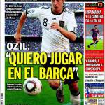 "Sport, Ozil: ""Desidero giocare nel Barça"""