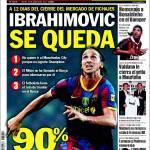 Sport: Ibrahimovic resta al 90%
