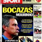 Sport: Linguaccia Mourinho