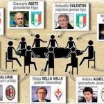 """Diretta Tavolo della pace, live: Agnelli non si sbilancia, Abete """"C'è una ferita profonda"""", Petrucci: """"Scorie di Calciopoli"""" e Moratti… – Foto del tavolo"""