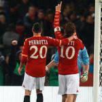 Roma Cagliari 3-0, Totti, Perrotta e Menez chiudono la pratica