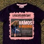 """La 'Gazzetta' celebra l'Inter: ecco la maglietta """"Vamos a Madrid"""" – Foto"""