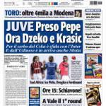 Tuttosport: Juve, preso Pepe, ora Dzeko e Krasic