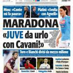 "Tuttosport: ""Juve da urlo con Cavani!"""