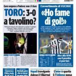 Tuttosport, Toro: 3-0 a tavolino? Vucinic: Ho fame di gol!