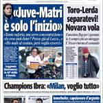 """Tuttosport: """"Juve-Matri, è solo l'inizio"""""""