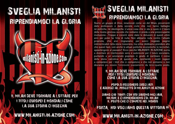 Milan juventus il volantino di milanisti in azione per for Asclub volantino