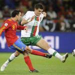 Mondiali 2010, al 45′ Spagna-Portogallo 0-0