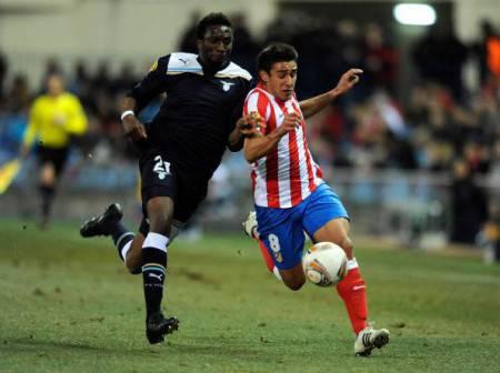 Atletico Madrid's Argentinian midfielder
